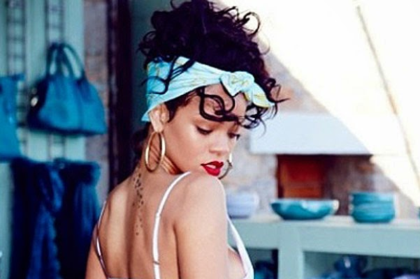 Greek goddess- Rihanna summer photoshoot