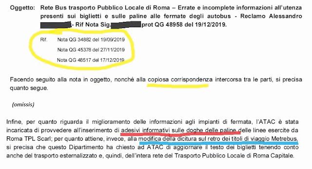 Alle fermate verrà specificato se il bus è di Atac o di Roma Tpl