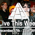 Live This Week: December 17th - 23rd, 2017