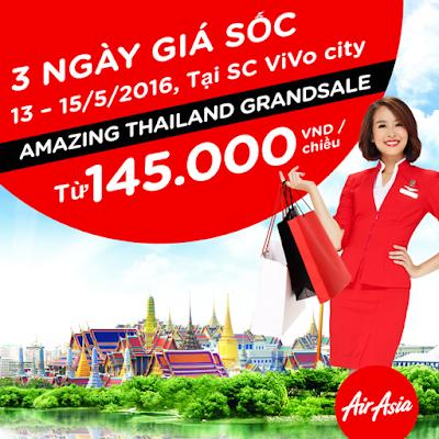AirAsia tung vé khuyến mãi 7 USD tuyến TP HCM - Bangkok