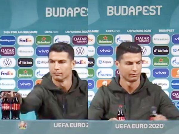 कोल्ड ड्रिंक देख बिफरे Ronaldo: प्रेस कांफ्रेंस के दौरान पुर्तगाली कप्तान ने गुस्से में बोतल उठाई और नीचे रख कर चिल्लाए- पानी पीने की आदत डालिए