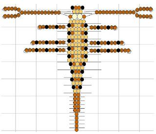 Насекомые из бисера объемные скорпион. Схема плетения