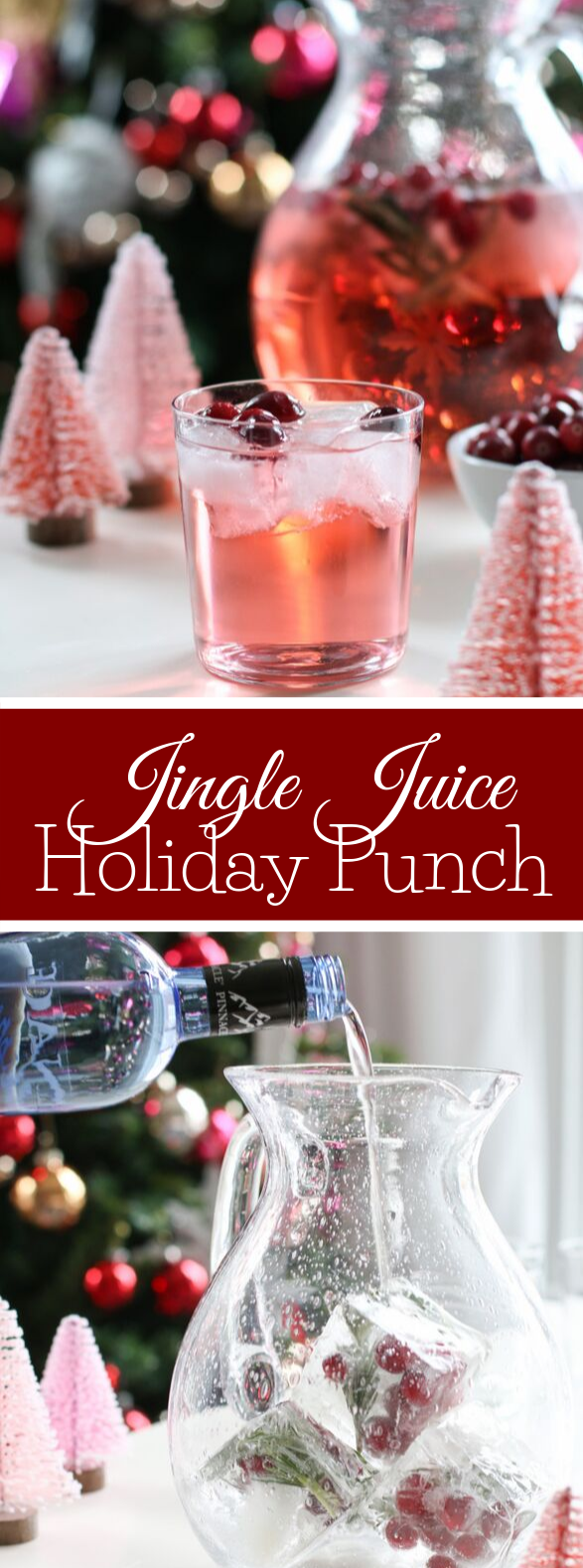 JINGLE JUICE HOLIDAY PUNCH #drinks #cocktails
