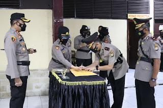 Kapolres Pelabuhan Makassar AKBP Kadarislam Pimpin Sertijab Pejabatnya