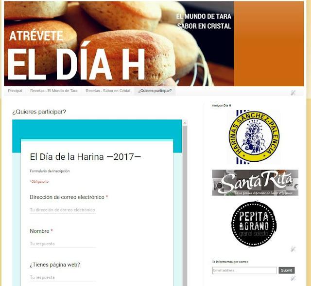 Inscripción en el Día de la Harina 2017