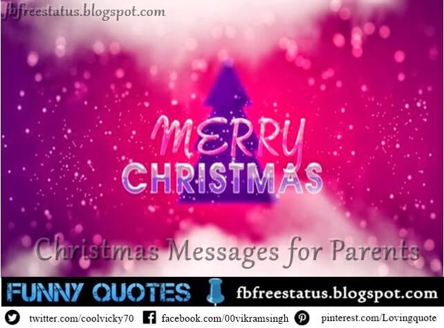 Christmas Messages for Parents from Children