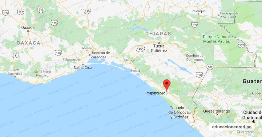 Temblor en México de Magnitud 4.1 (Hoy Lunes 27 Julio 2020) Sismo - Epicentro - Mapastepec - Chiapas - CHIS. - SSN - www.ssn.unam.mx