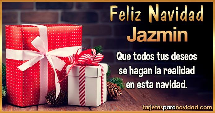 Feliz Navidad Jazmin