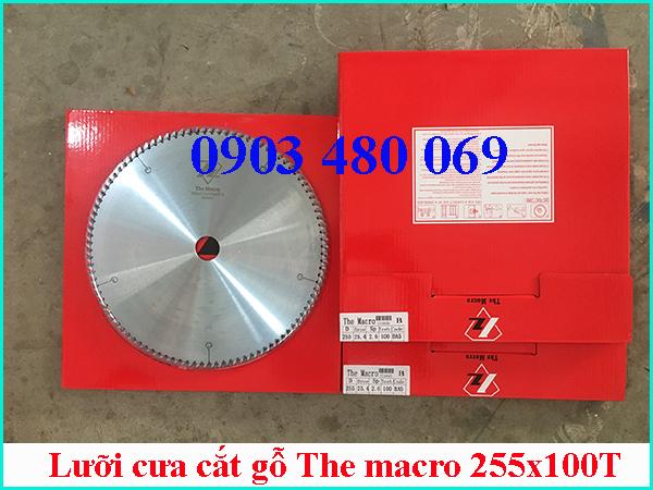 Lưỡi cưa cắt gỗ The macro 255x100T