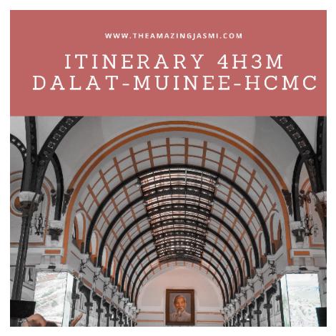 Itinerary 4H3M Dalat - Muinee - Ho Chi Minh City Vietnam