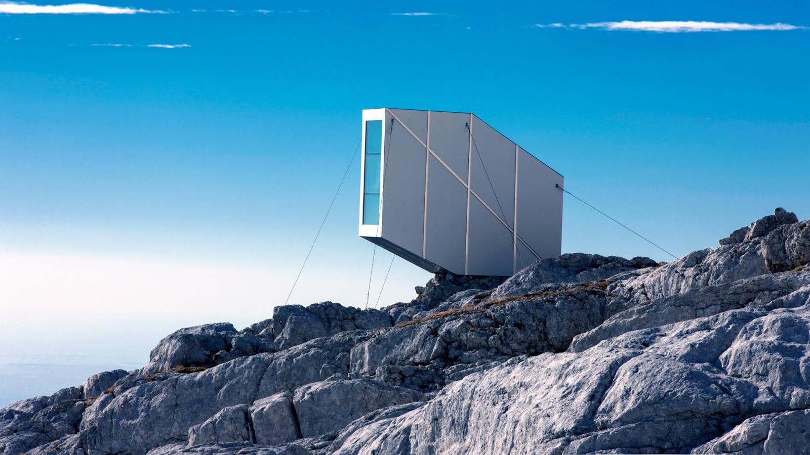 Scraper Magazine: Alpine shelter by OFIS