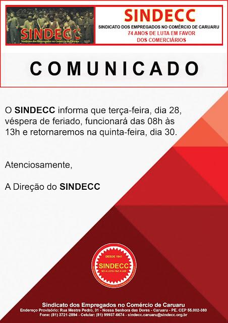 sindecc-informa-horario-de-funcionamento-do-sindecc-para-amanha-28-vespera-do-feriado