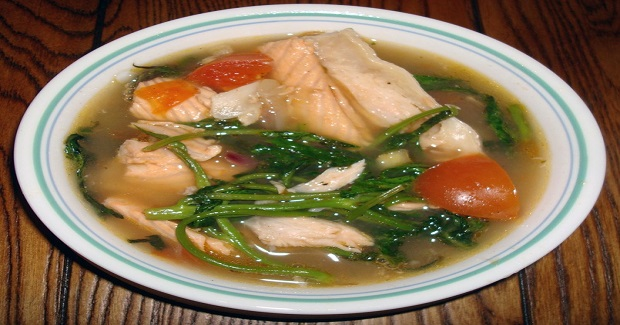 Sinigang Na Isda (Salmon Fish Belly Sour Soup) Recipe