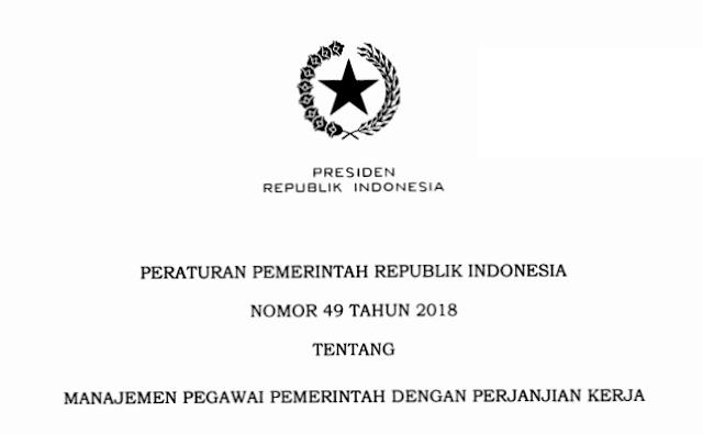 Peraturan Pemerintah – PP Nomor 49 Tahun 2018 tentang PPPK