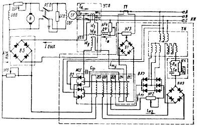 Система автоматического регулирования напряжения с регулятором типа УБК-М