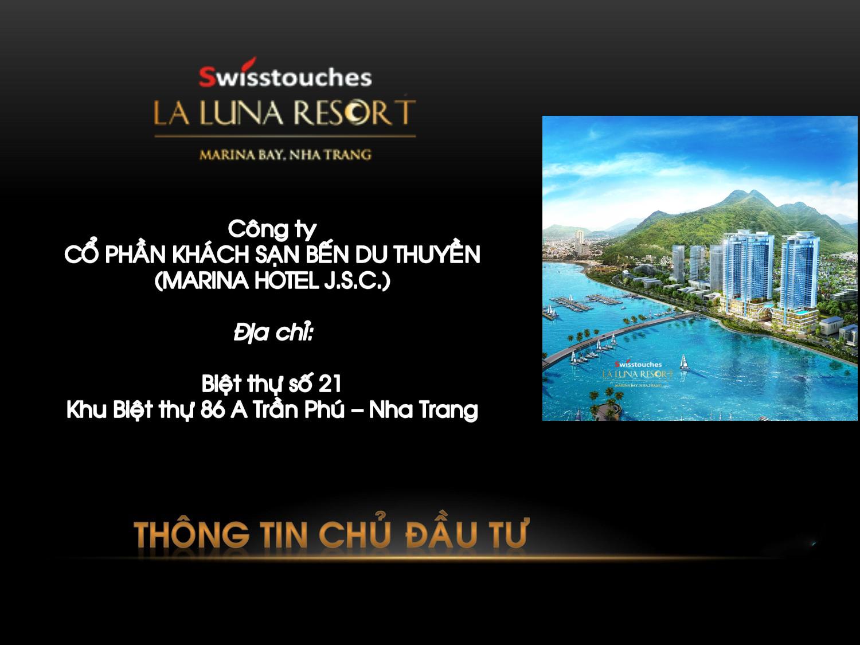 Thông tin chủ đầu tư Swisstouches La Luna Nha Trang