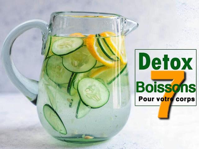 7 recettes Detox étonnantes d'eau infusée