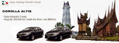 KGM Rental Altis Padang