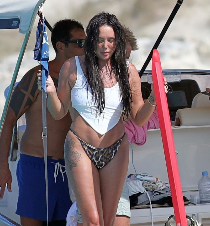 Charlotte Crosby Snapped In Bikini at a Boat in Formentera 3 Aug -2020
