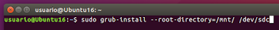 sudo grub-install --root-directory=/mnt/ /dev/sdc