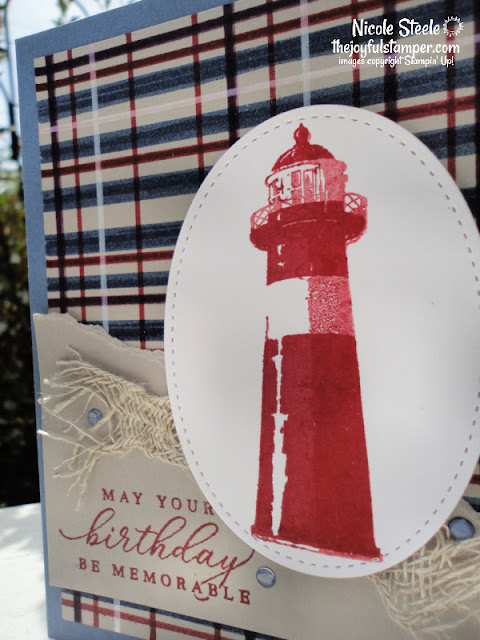 high tide, lighthouses, nautical, plaid, fall, guy cards, masculine, birthday cards, handmade cards, stampin' up!, nicole steele, the joyful stamper, independent stampin' up! demonstrator, pittsburgh pa