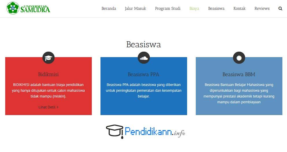 Informasi Beasiswa Universitas Samudra Terbaru