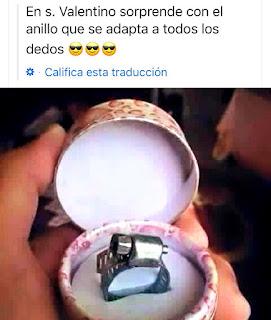 Meme San Valentín anillo adaptable