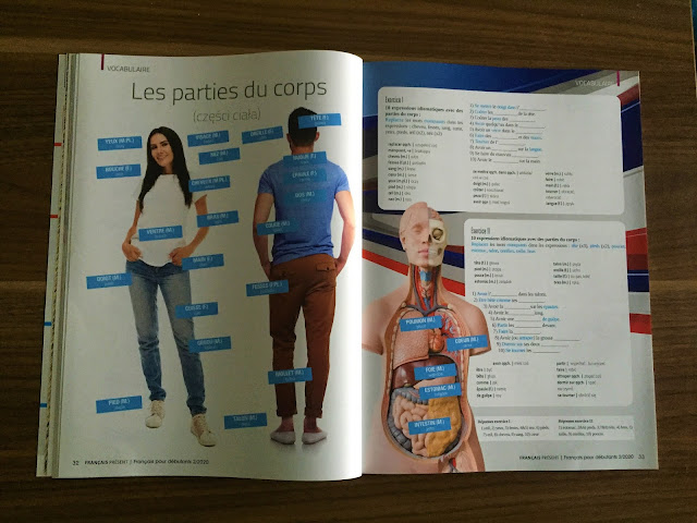 """""""Français Présent 2 Dla początkujących"""" - części ciała - Francuski przy kawie"""