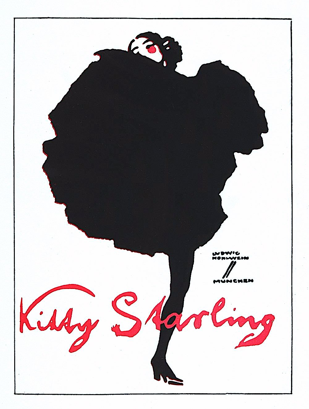 a Ludwig Hohlwein 1921 poster for Kissy Starling