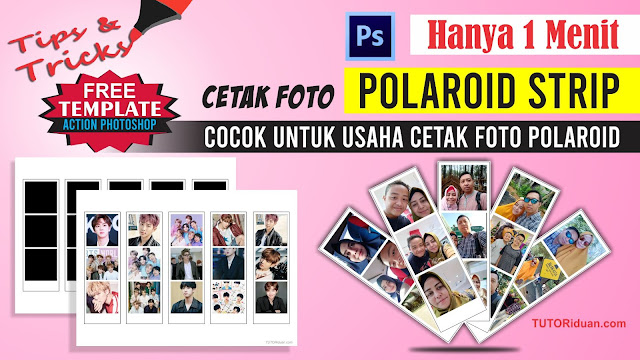 Template POLAROID STRIP 3 PSD