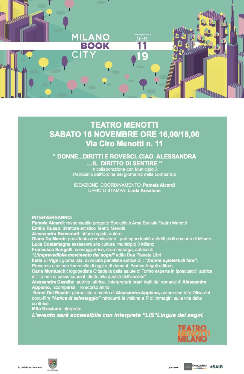 """Armonia E Benessere Bagheria teatro menotti: """"donne…diritti e rovesci, ciao alessandra"""
