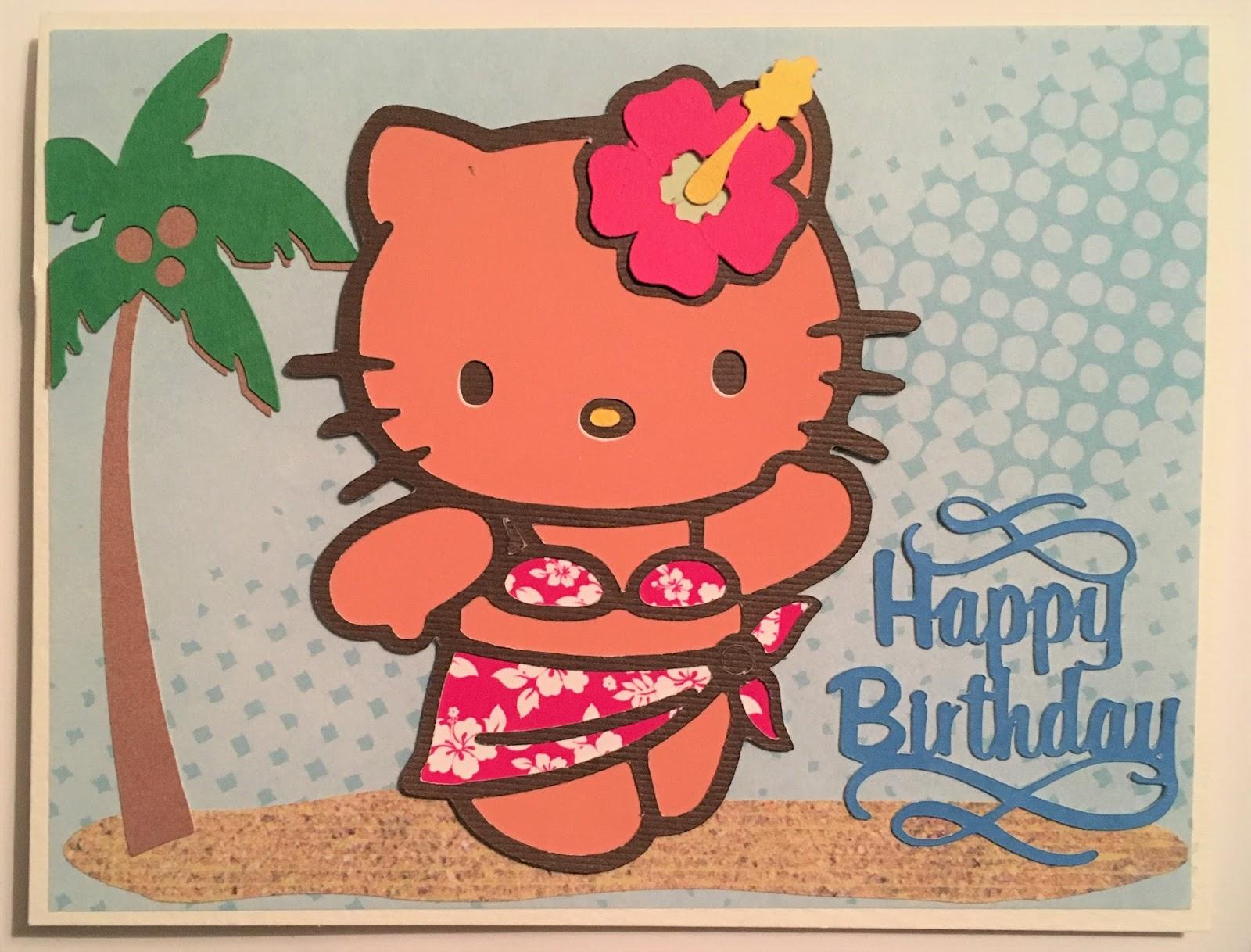 scrap ali ever after hawaiian themed hello kitty happy birthday