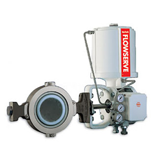 double offset high performance butterfly valve with actuator