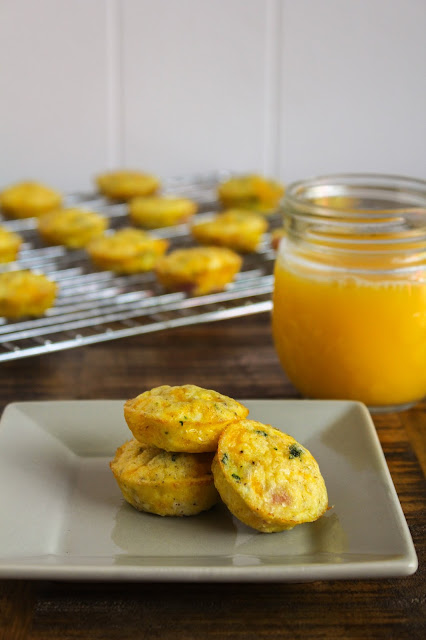 Mini Ham and Cheese Frittatas | The Chef Next Door