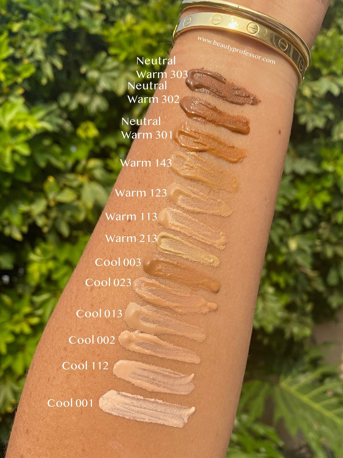 new Koh Gen do moisture foundation swatches
