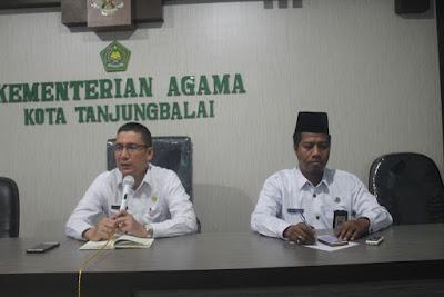 Jelang Ramadhan, Kakankemenag Tanjungbalai Pimpin Rapat Koordinasi