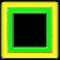 Moldura verde amarela png