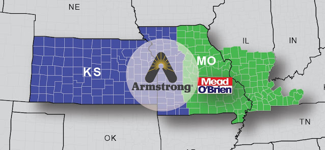 Mead O'Brien Expands its Armstrong International Territory into Western Missouri and Kansas