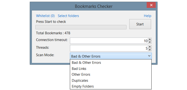 Bookmarks Checker