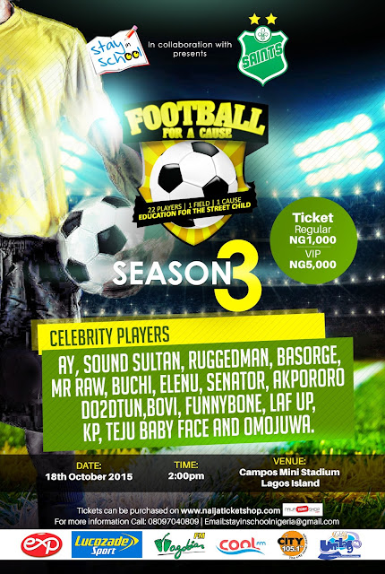 Nigerian celebrities gear up for Football For A Cause Season 3