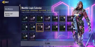 Monthly login rewards