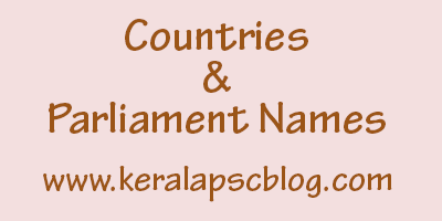 Countries and their Parliament Names