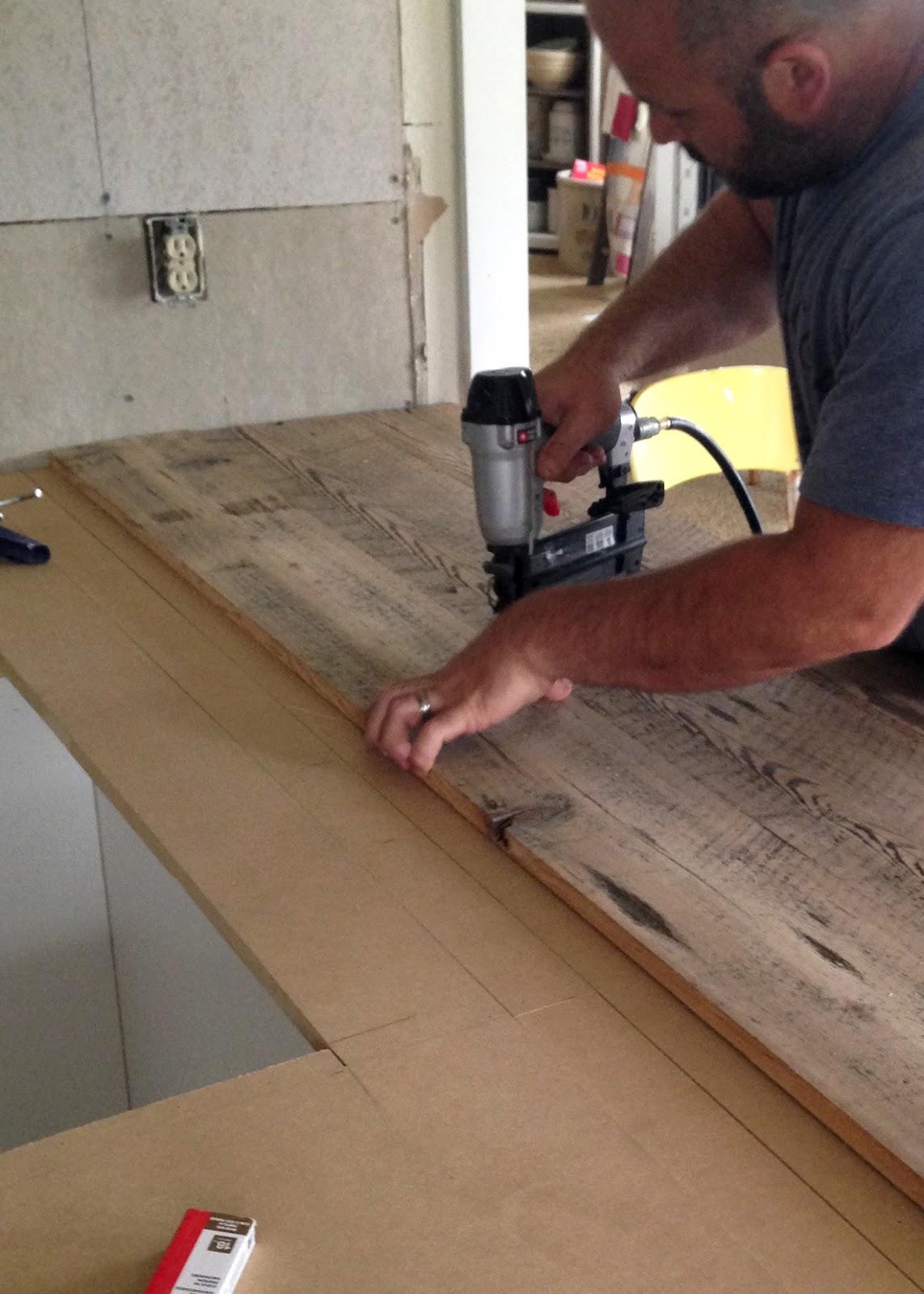 DIY Reclaimed Wood Countertop   Averie Lane: DIY Reclaimed ...