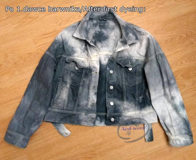 Adzik tworzy - DIY farbowanie kurtki jeansowej