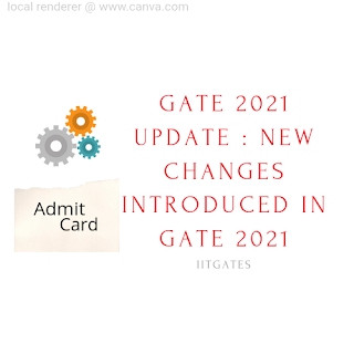 GATE 2021 Update : New Changes Introduced in GATE 2021