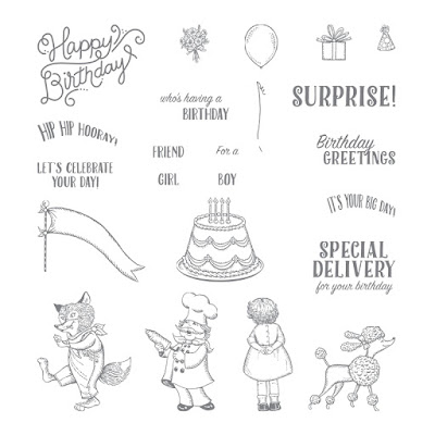 Birthday Delivery stamp set - Perfectly vintage for all your stationery needs - Simply Stamping with Narelle - purchase yours here - http://bit.ly/2vJbOOe