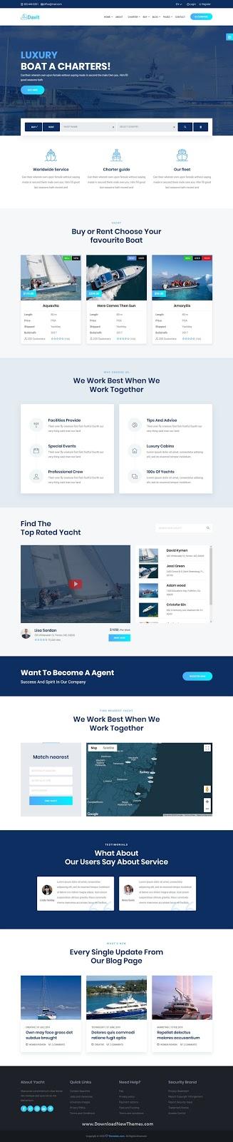 Davit - Yacht Charter HTML Template