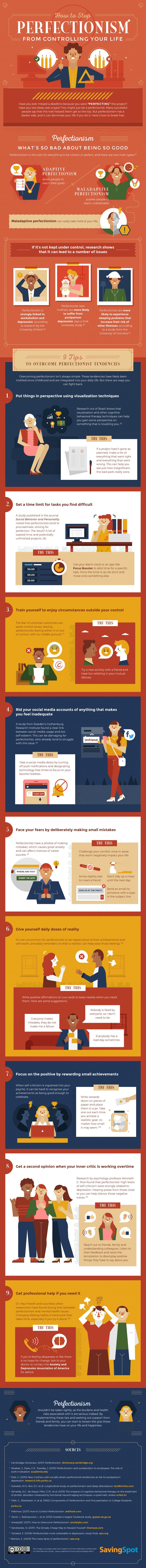 How to Stop Perfectionism From Controlling Your Life - #infographic