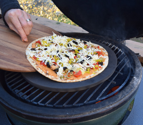 Antipasto flatbread sliding into your DM....errr....Big Green Egg
