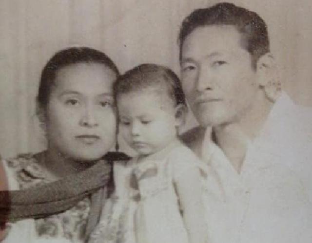 De esclavo a Patriota: el coreano que no se sentaba a comer. Clemente Kim y esposa. Album familiar
